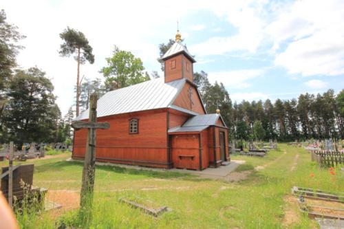 kaplica cmentarna Przemienienia Pańskiego w okolicy wsi Wygoda (Parafia Nowoberezowo)